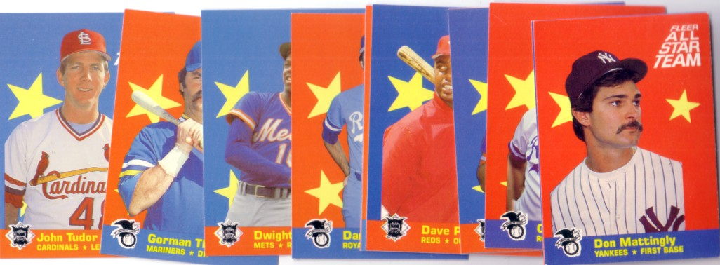 1986 Fleer All Star Team 12 Insert Card Set George Brett