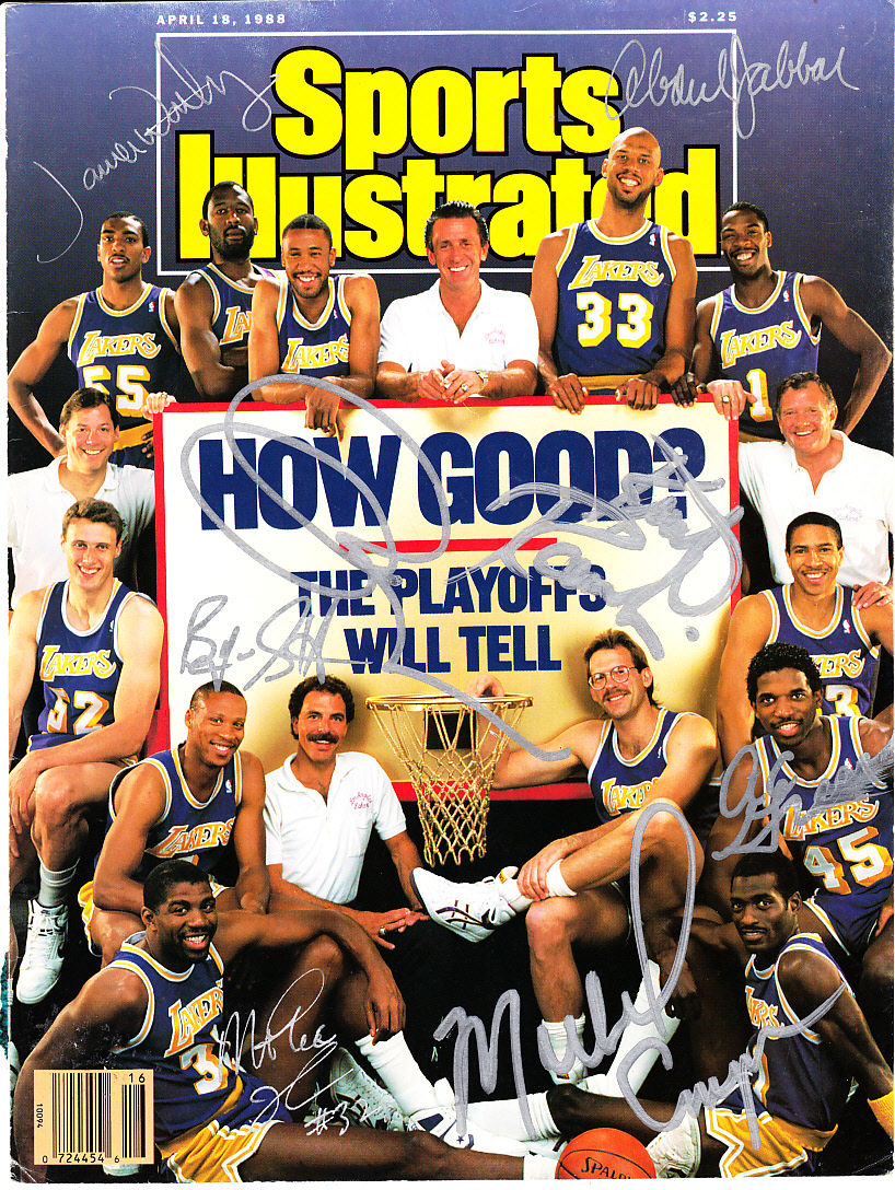 1987 88 Los Angeles Lakers team autographed Sports Illustrated