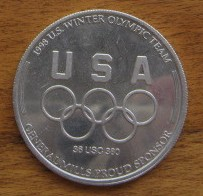 1998 USA Olympic Speed Skating Team General Mills coin or medallion
