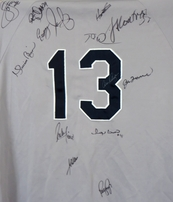 2004 Yankees team autographed jersey Mariano Rivera A-Rod Torre Matsui