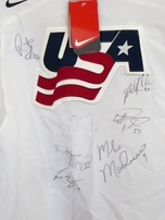 2006 US Olympic Hockey Team autographed Nike jersey Mike Modano Robert Esche Scott Gomez John Grahame Derian Hatcher Mike Knuble Mark Parrish