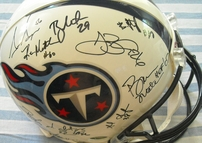 2012 Tennessee Titans team autographed authentic full size helmet Kenny Britt Michael Griffin Bruce Matthews Damian Williams Kendall Wright