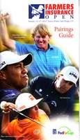 2013 Farmers Insurance Open program and pairings guide MINT (Tiger Woods 75th PGA Tour Win)