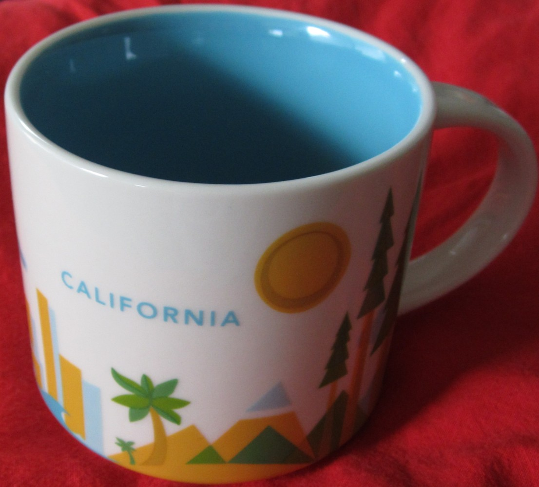 starbucks 2013 you are here collection california 14 ounce collector coffee mug new historical. Black Bedroom Furniture Sets. Home Design Ideas