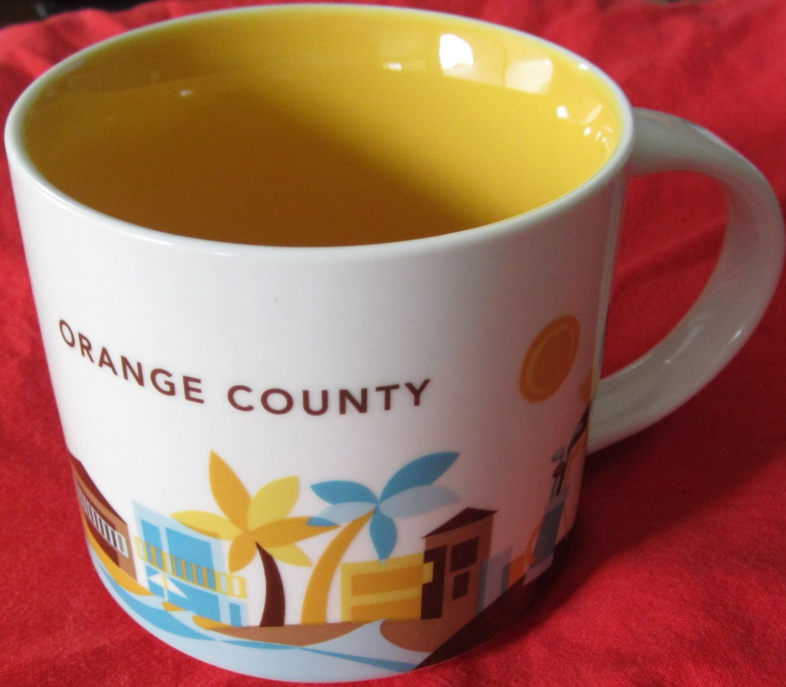 starbucks 2013 you are here collection orange county 14 ounce collector coffee mug new. Black Bedroom Furniture Sets. Home Design Ideas
