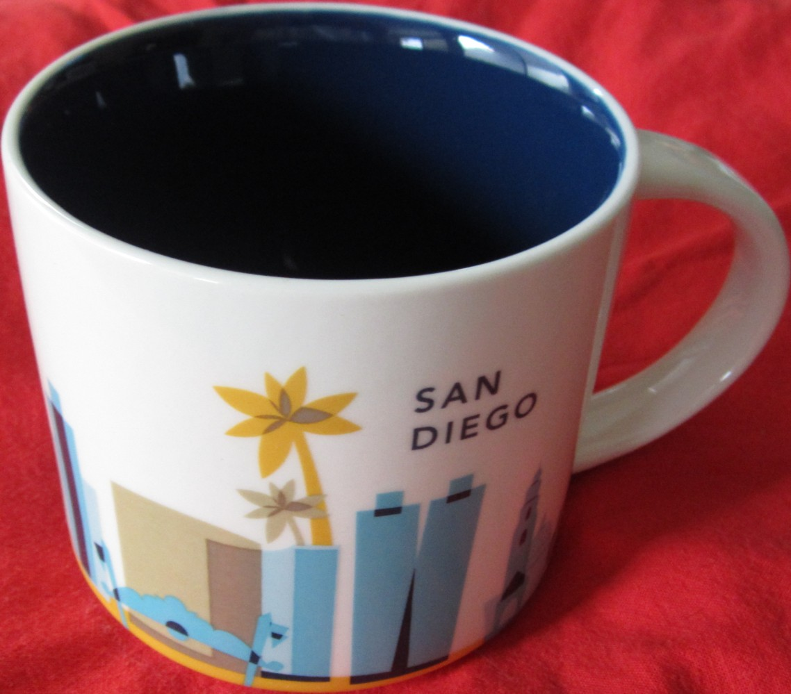 starbucks 2013 you are here collection san diego 14 ounce collector coffee mug new starbucks mugs. Black Bedroom Furniture Sets. Home Design Ideas