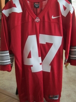 A.J. Hawk Ohio State Buckeyes authentic Nike red throwback stitched #47 jersey