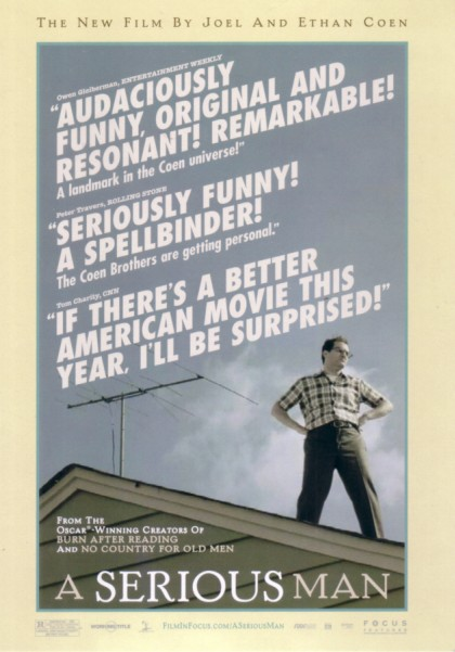 a serious man movie promo postcard coen brothers movie posters