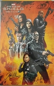 Agents of SHIELD cast autographed 2016 Comic-Con poster (Chloe Bennet Clark Gregg Ming Na Wen)