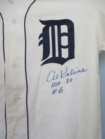 Al Kaline autographed Detroit Tigers 1968 Mitchell & Ness authentic throwback jersey inscribed HOF 80 #6