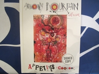 Anthony Bourdain autographed Appetites hardcover cookbook