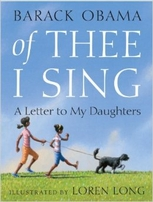 Barack Obama autographed Of Thee I Sing hardcover children's book