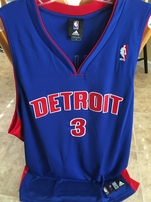 Ben Wallace Detroit Pistons authentic Adidas game model stitched blue jersey NEW