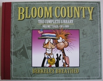Berke Breathed autographed Bloom County Complete Library V3 book (Bill the Cat remarqued) #88/100