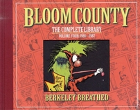 Berke Breathed autographed Bloom County Complete Library V4 book (BINKLEY remarqued) #23/100