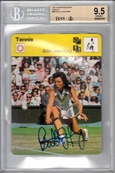 Billie Jean King autographed 1977 Sportscaster Rookie Card Beckett Authenticated BAS BGS graded 9.5 GEM MINT