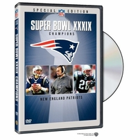 Robert Kraft autographed New England Patriots Super Bowl 39 Champions DVD