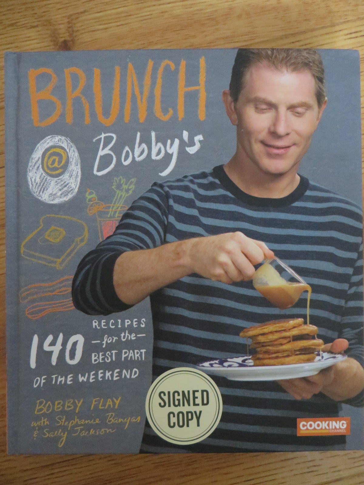 bobby flay autographed brunch at bobby's hardcover cookbook - art
