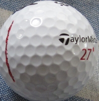 Boo Weekley autographed tournament used TaylorMade golf ball