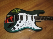 Bret Michaels autographed POISON Fender Squier Bullet green electric guitar