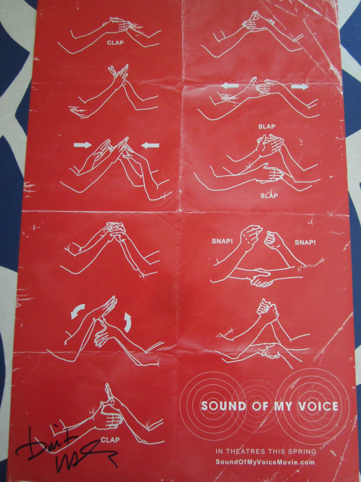 brit marling autographed sound of my voice mini movie