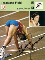 Bruce Jenner autographed 1977 Sportscaster card Beckett Authenticated BGS graded 8.5 NrMt-Mt++