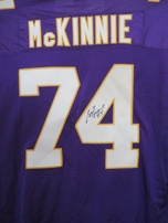 Bryant McKinnie autographed Minnesota Vikings authentic Puma stitched jersey