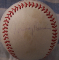 Bubba Church Tommy Davis Wes Parker autographed NL baseball