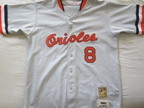 Cal Ripken autographed 1983 Baltimore Orioles authentic Mitchell & Ness throwback jersey