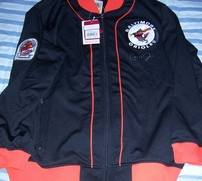 Cal Ripken autographed 1984 Baltimore Orioles Mitchell & Ness batting practice jacket (Ironclad)