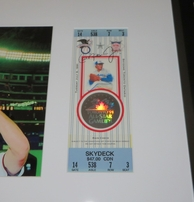 Cal Ripken autographed 1991 MLB All-Star Game full ticket matted & framed with photo