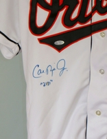 Cal Ripken autographed 1995 Baltimore Orioles authentic game model home jersey inscribed 2131 (Ironclad)