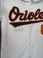 Cal Ripken autographed Baltimore Orioles authentic Majestic home white jersey (IRONCLAD)