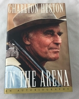 Charlton Heston autographed In The Arena hardcover book