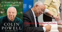 Colin Powell autographed It Worked For Me hardcover book