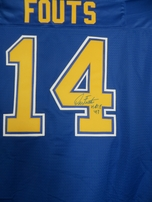Dan Fouts autographed San Diego Chargers early 1980s style authentic NFL Vintage throwback blue stitched jersey