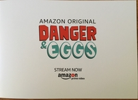 Danger and Eggs cast autographed 2017 Comic-Con frame with original artwork (Aidy Bryant Jasika Nicole)