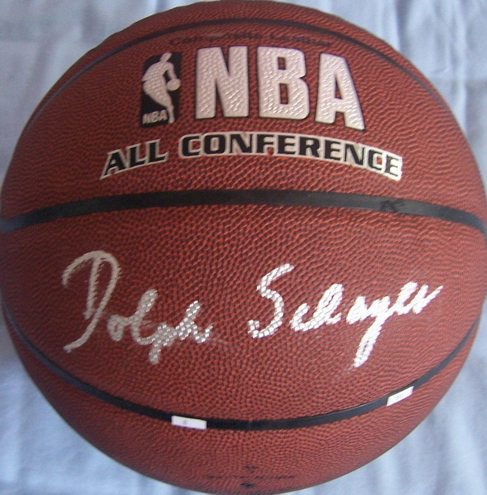 Dolph Schayes autographed NBA indoor outdoor All Conference
