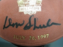 Don Shula autographed 1997 Pro Football Hall of Fame NFL game model football #1323/1997