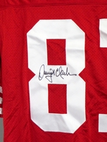 Dwight Clark autographed San Francisco 49ers authentic style stitched jersey