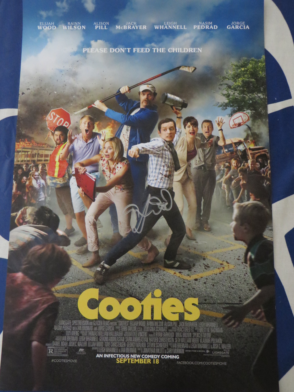 Elijah wood autographed cooties mini movie poster jsa for Movie photos for sale