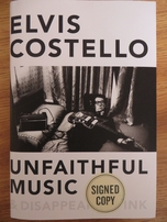 Elvis Costello autographed Unfaithful Music hardcover book