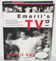 Emeril Lagasse autographed Emeril's TV Dinners hardcover cook book