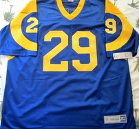 Eric Dickerson autographed Los Angeles Rams authentic throwback stitched NFL Vintage jersey