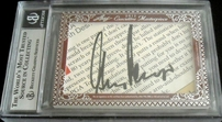 Ernie Els & Gary Player certified autograph 2012 Leaf Executive Masterpiece Dual Cut Signature card #1/1