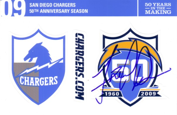 Fred Dean Autographed San Diego Chargers 50th Anniversary