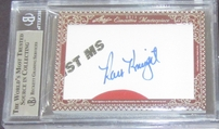 Gary Carter & Ray Knight certified autograph 2012 Leaf Executive Masterpiece Dual Cut Signature card #1/1