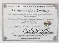 George Mikan autographed 6x6 basketball hardwood floor inscribed Mr. Basketball HOF 59