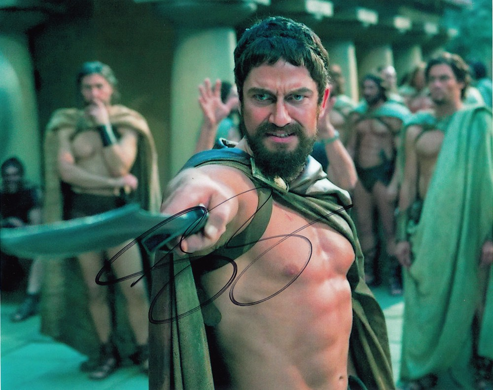 Gerard Butler autographed 300 8x10 photo - Actor ...