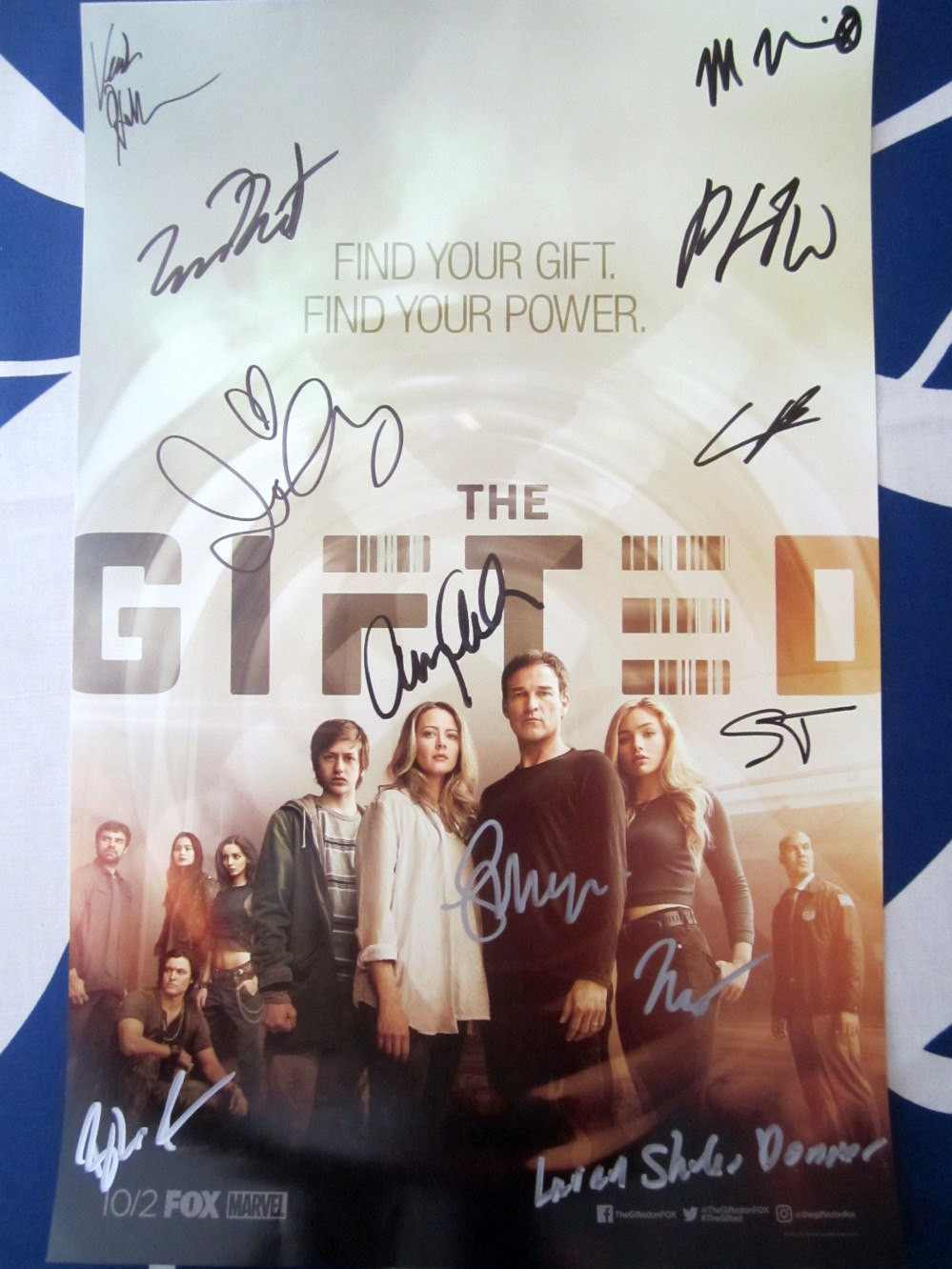 Gifted Cast Autographed 2017 Comic Con Poster Amy Acker Stephen Moyer